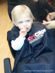 Toddler first haircut